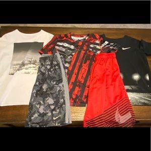 Boys Nike Medium Lot Shirts Basketball Shorts
